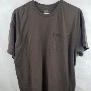 Fruit of the Loom Brown Pocket T-Shirt Size XL